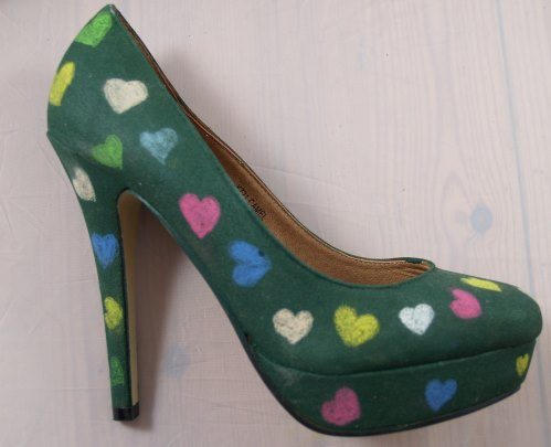High Heels mit Tafelfarbe